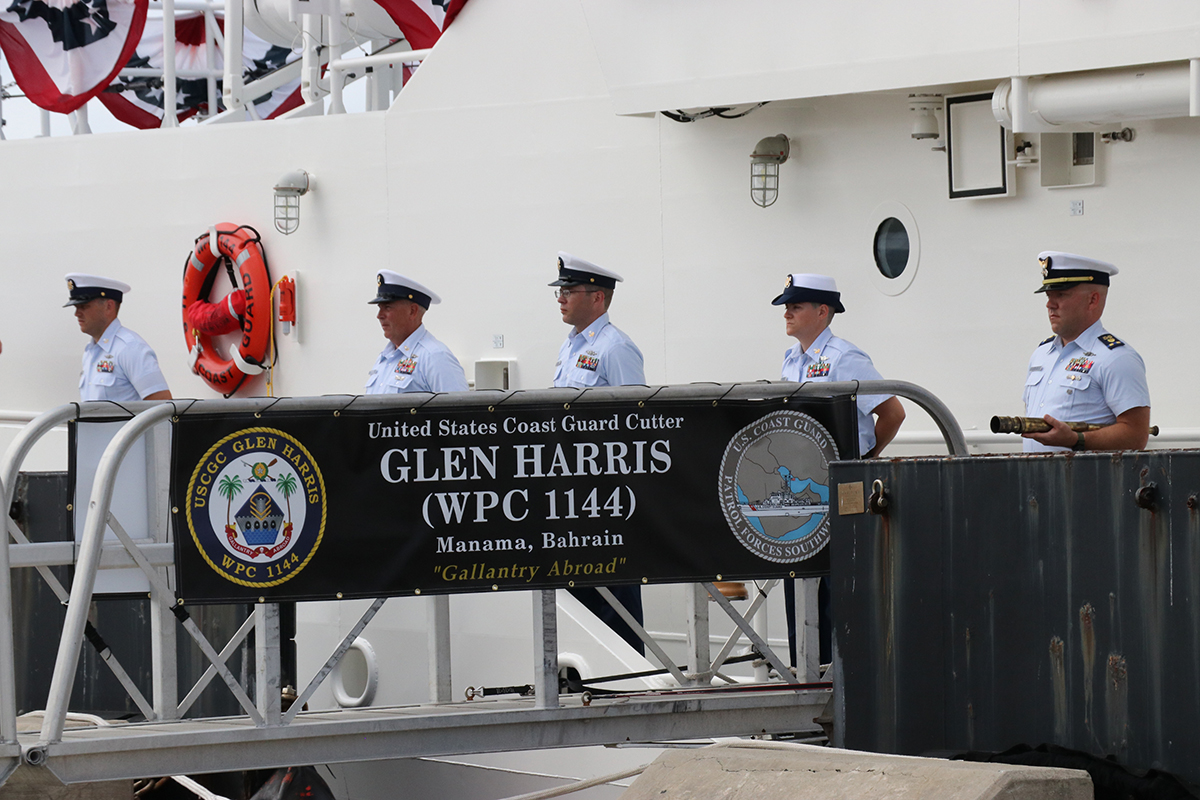 Officers and crew on board the Glen Harris. Photo: Ann Cary Simpson