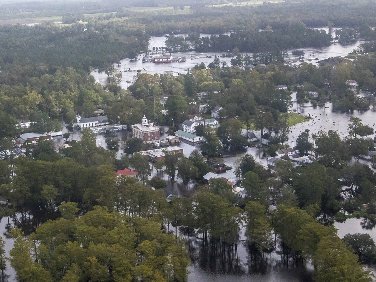 Trenton is flooded in the wake of Hurricane Florence in September 2018. Photo: Staff Sgt. Herschel Talley/Nebraska National Guard